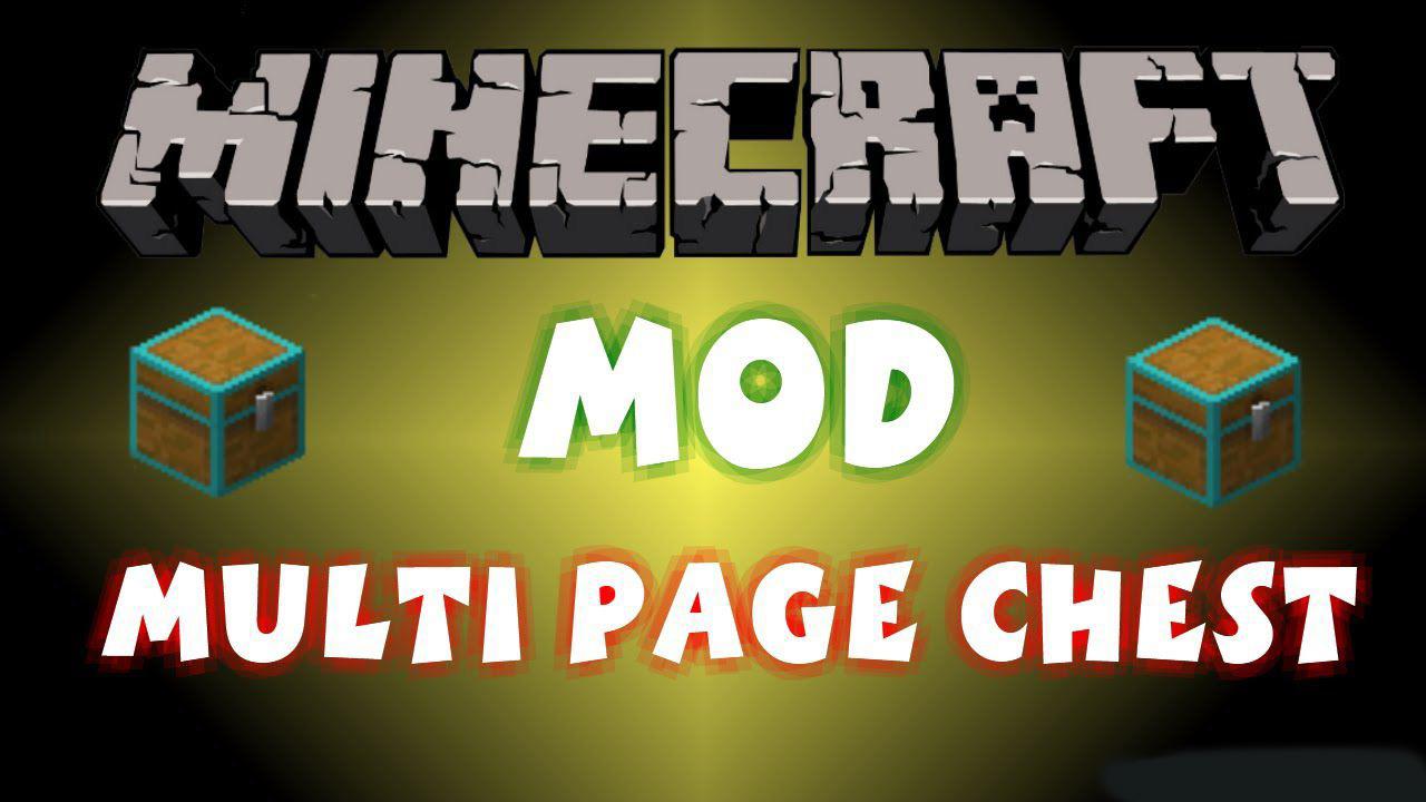 Multi Page Chest для Minecraft 1.12.2 (EN/RU)