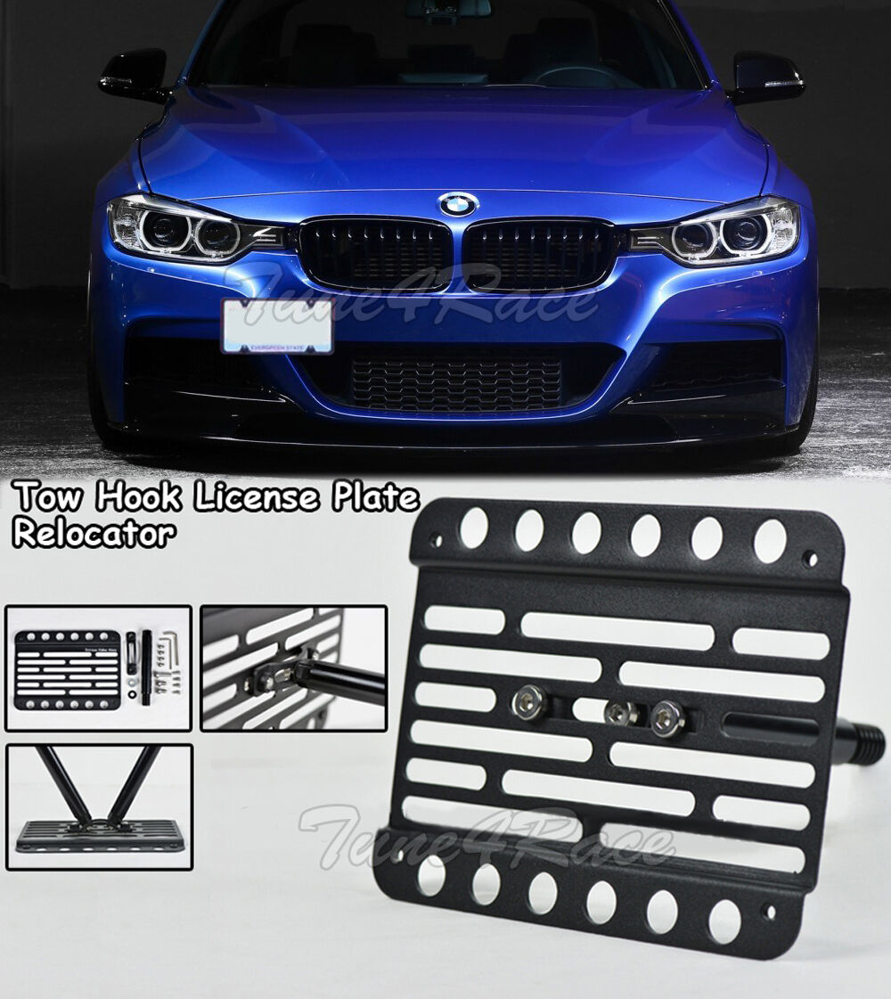 Multi Angle Tow Hook Mount License Plate Bracket BMW 5-Series M-Sport 11-16 F10
