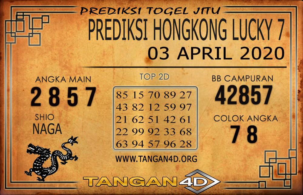 PREDIKSI TOGEL HONGKONG LUCKY 7 TANGAN4D 03 APRIL 2020