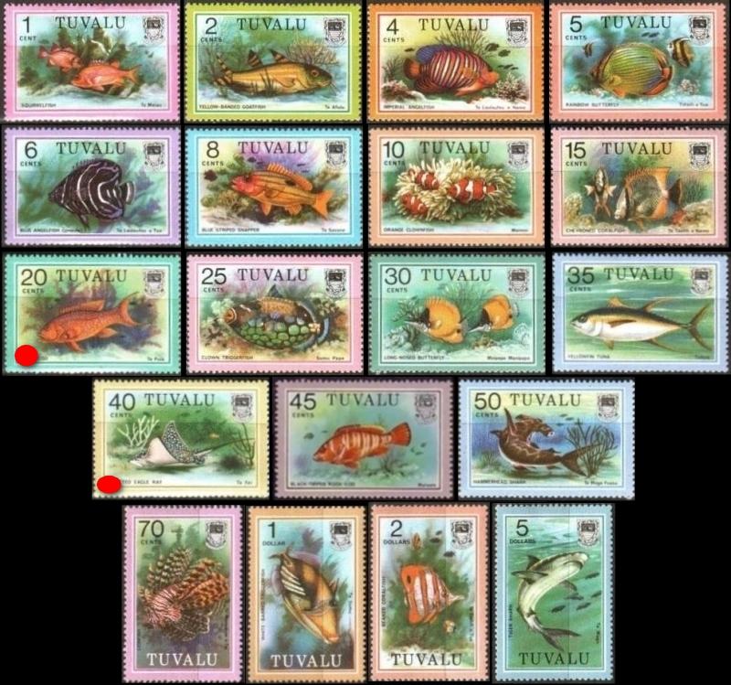 Tuvalu fishes Tuvalu-1979-definitives-fish