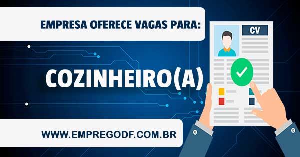 EMPREGO PARA COZINHEIRO