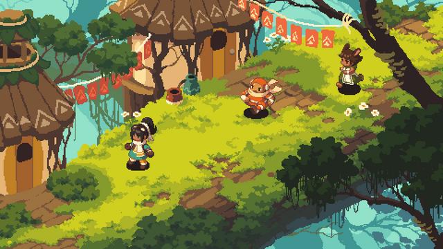 推主jmw327放出了他正在開發中的像素風農場經營模擬類遊戲《Frontier Story》的場景圖 Image