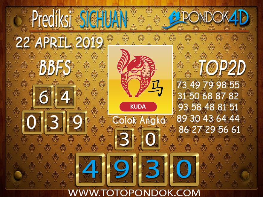 Prediksi Togel SICHUAN PONDOK4D 22 APRIL 2019