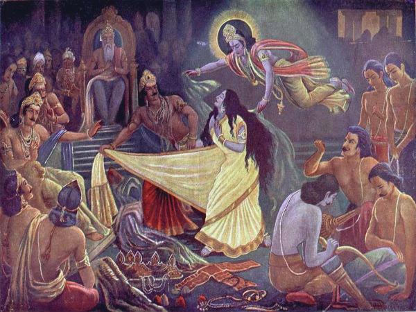 দৌপ্রদীর বস্ত্রহরণ-মহাভারত