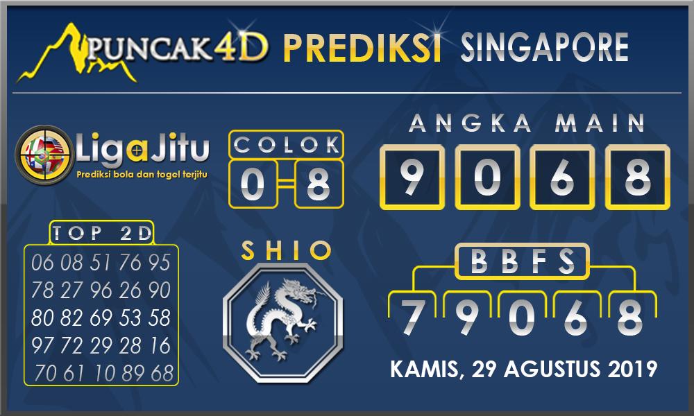 PREDIKSI TOGEL SINGAPORE PUNCAK4D 29 AGUSTUS 2019