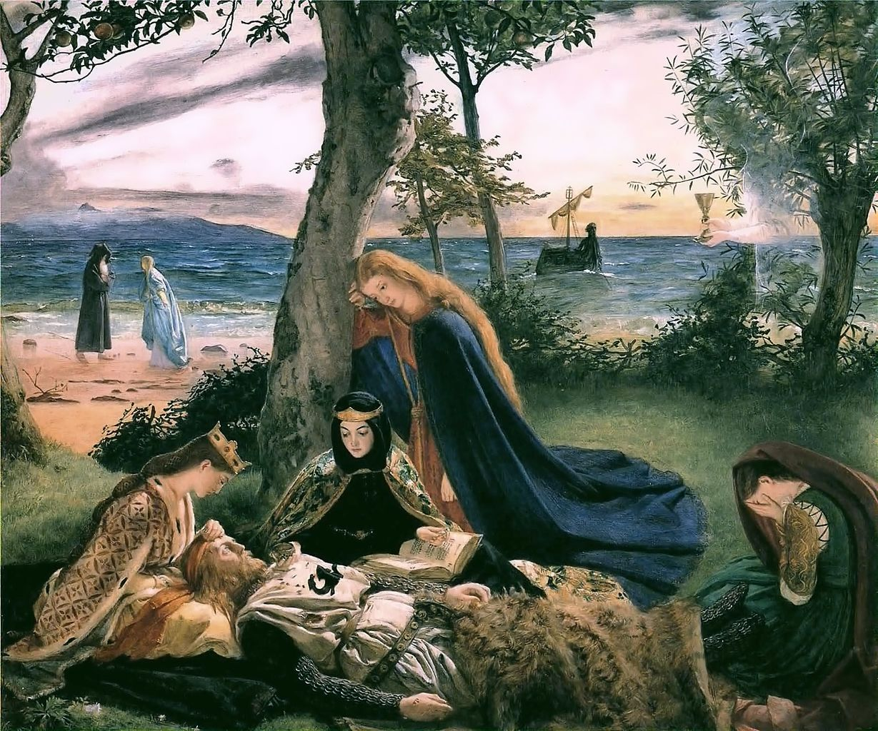 The-Death-of-King-Arthur-by-James-Archer-1860