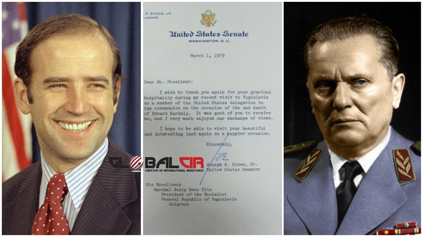 I ON JE VIDIO TITA MARŠALA! Joe Biden se 1979. godine susreo sa Titom, a ovo je njegovo pismo koje o tome svjedoči!