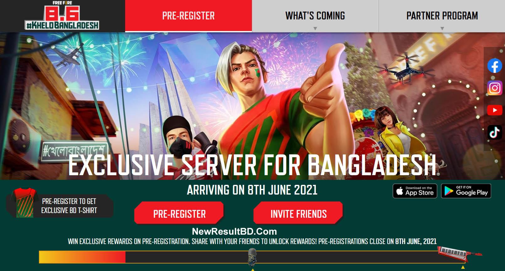Pre-Register For Free Fire Bangladesh Dedicated Server