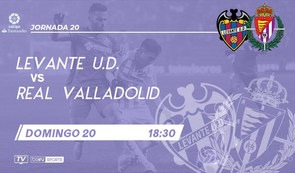 Levante U.D. - Real Valladolid. Domingo 20 de Enero. 18:30 LEV-RVD