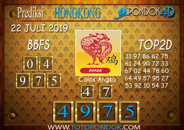 Prediksi Togel HONGKONG PONDOK4D 22 JULI 2019