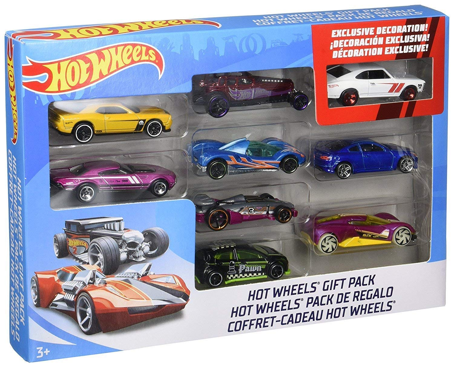 Details About Hot Wheels 9 Car Gift Pack Styles May Vary Multipack Free Shipping