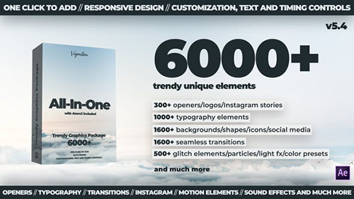 6000+ Graphics Pack V5.4 24321544 - Project & Script for After Effects (Videohive)