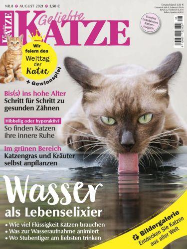 Cover: Geliebte Katze Magazin No 08 August 2021