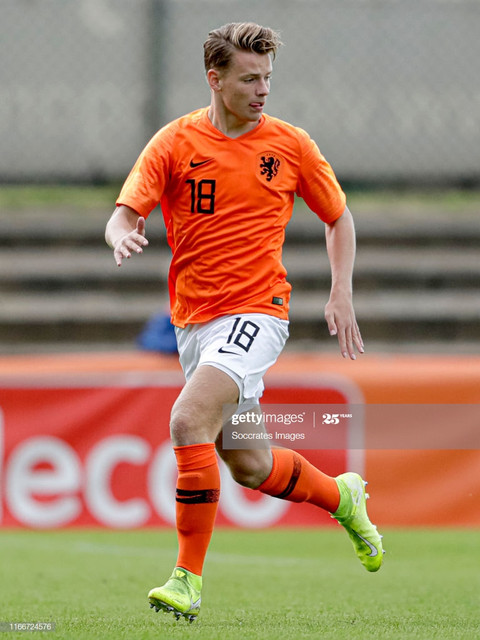 ASSEN-NETHERLANDS-SEPTEMBER-7-Syb-van-Ottele-of-Holland-U18-during-the-U18-Men-match-between-Holland