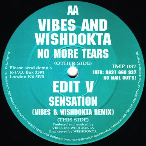 Download Vibes & Wishdokta - No More Tears / Sensation mp3