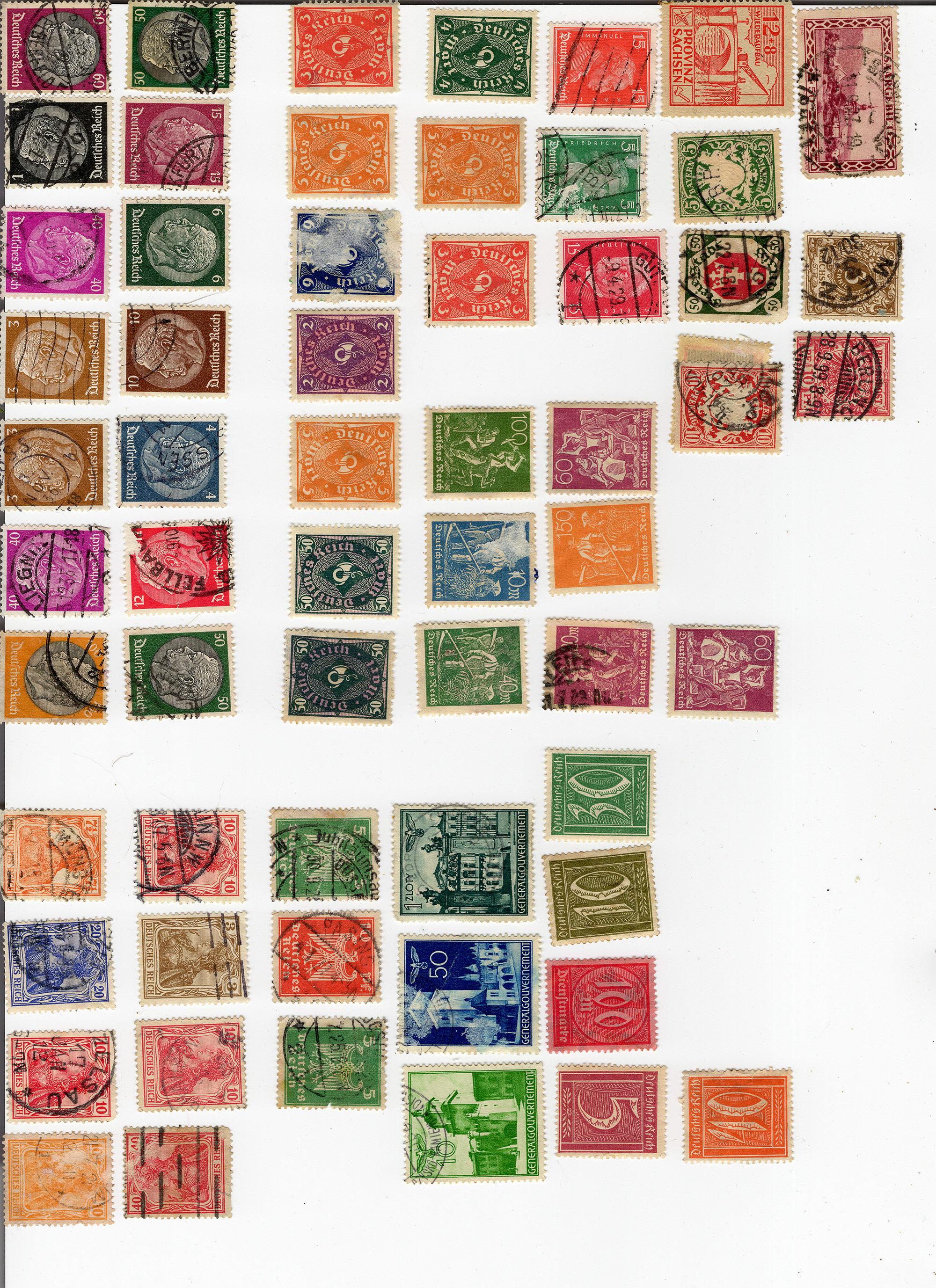"""""""Deutsches Reich"""" Diverse Briefmarken gefunden Marken-01"""