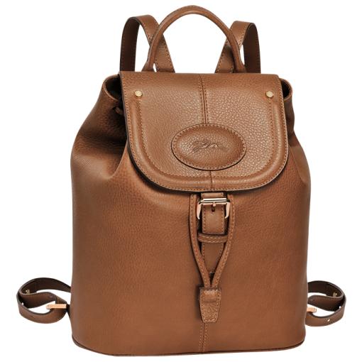 Longchamp-Backpack-Cognac