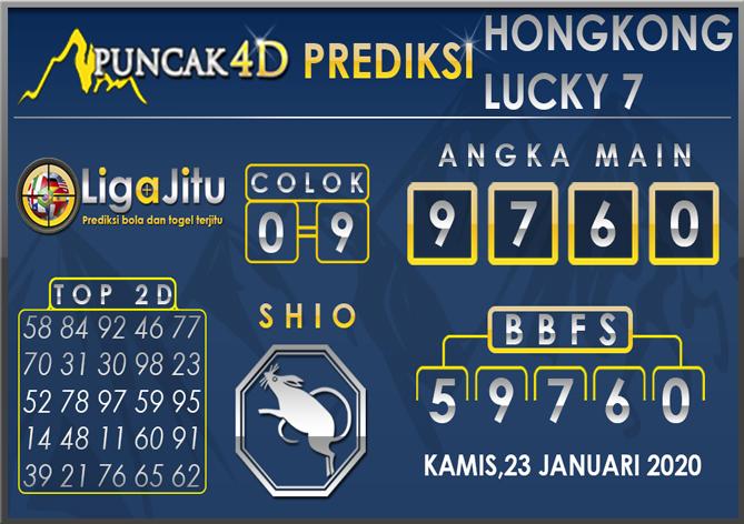 PREDIKSI TOGEL HONGKONG LUCKY7 PUNCAK4D 23 JANUARI 2020
