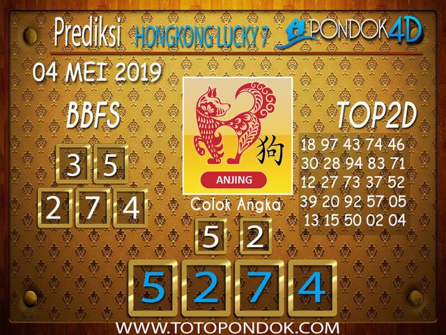 Prediksi Togel HONGKONG LUCKY 7 PONDOK4D 04 MEI 2019