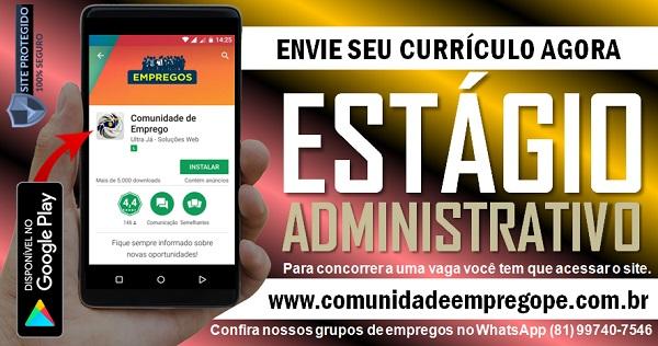 ESTÁGIO ADMINISTRATIVO COM SALÁRIO R$ 500,00 PARA DISTRIBUIÇÃO DE PRODUTOS VETERINÁRIOS