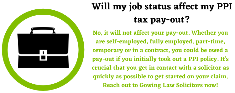 Job status with PPI tax claims