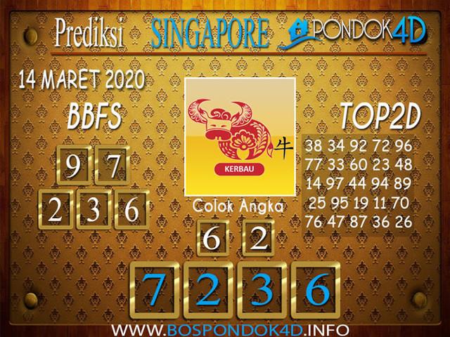 Prediksi Togel SINGAPORE PONDOK4D 14 MARET 2020