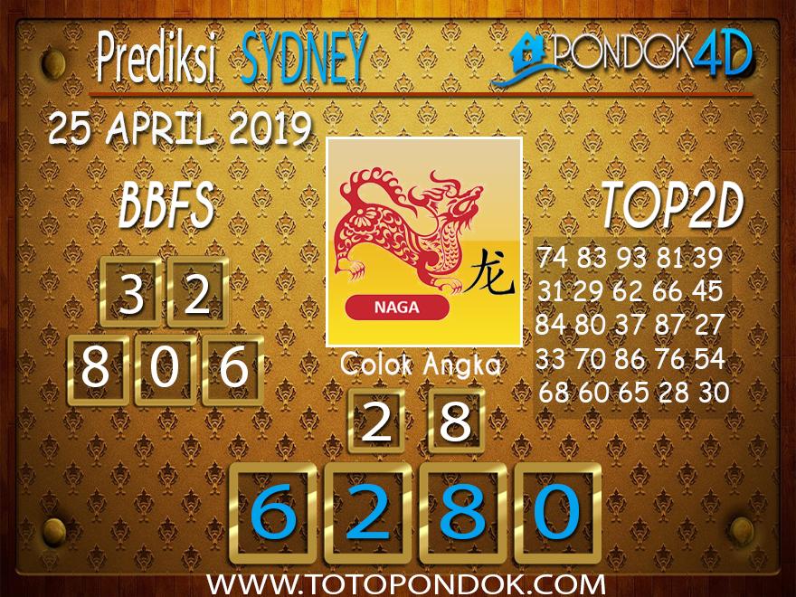 Prediksi Togel SYDNEY PONDOK4D 25 APRIL 2019