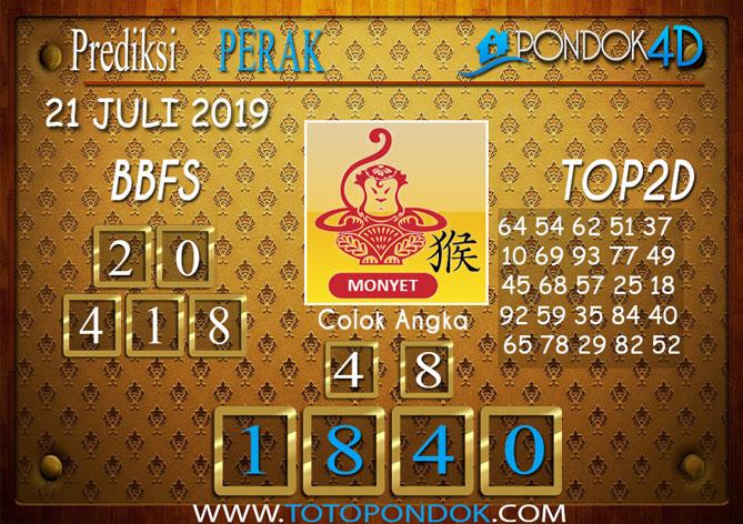Prediksi Togel PERAK POOLS PONDOK4D 21 JULI 2019