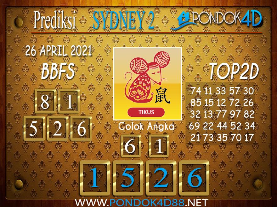 Prediksi Togel SYDNEY2 PONDOK4D 26 APRIL 2021
