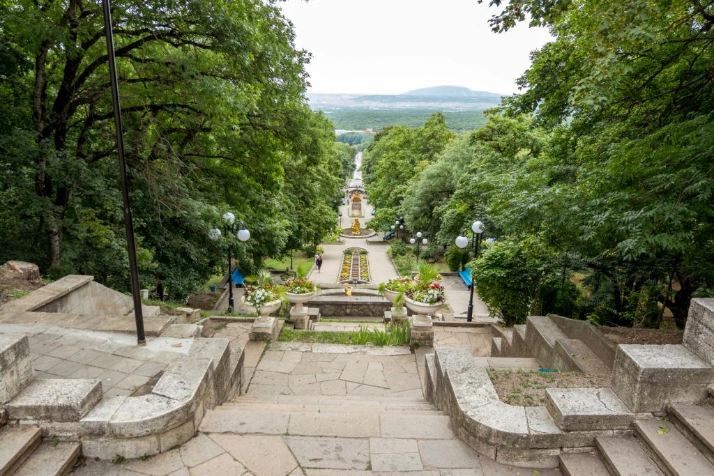 Железноводск, источник, минеральная вода Железноводск, лечебный парк, Смирновский источник, каскадная лестница
