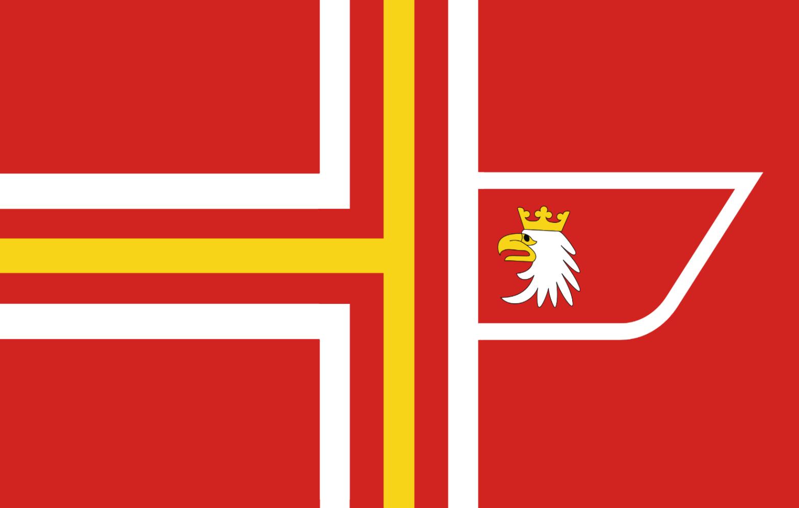 The Flag of the Rzeczpospolita Walruzyjska (Republic of Valruzia)