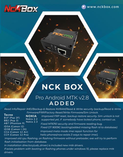 NCK Box / Pro Android MTK Module v2.8 Released - [24/05/2020] - EID Mubarak