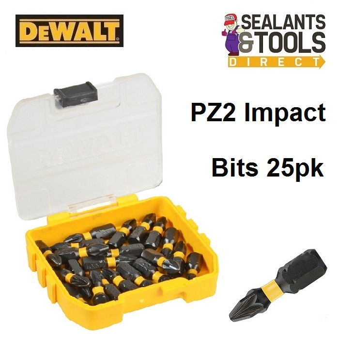 Dewalt Pozi PZ2 Extreme Impact Torsion Screwdriver Bits DT70527T