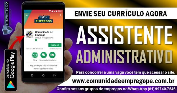 ASSISTENTE ADMINISTRATIVO COMERCIAL PARA CLÍNICA DE IMAGEM NO RECIFE