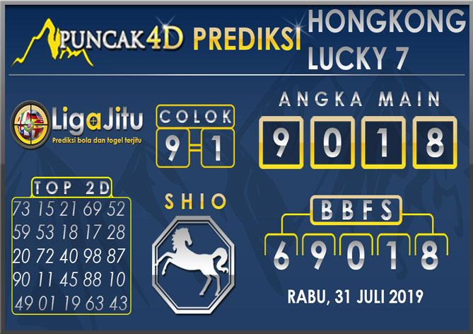 PREDIKSI TOGEL HONGKONG LUCKY7 PUNCAK4D 31 JULI 2019