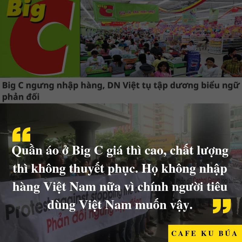 BIG C, QUẦN ÁO VIỆT VÀ NGƯỜI TIÊU DÙNG – AI ĐÚNG?