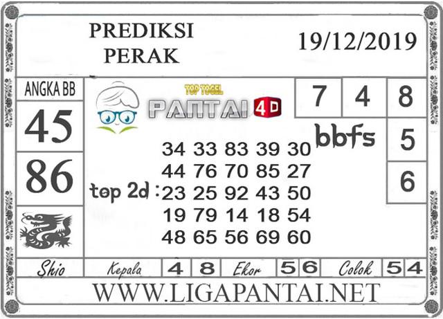 PREDIKSI TOGEL PERAK PANTAI4D 19 DESEMBER 2019