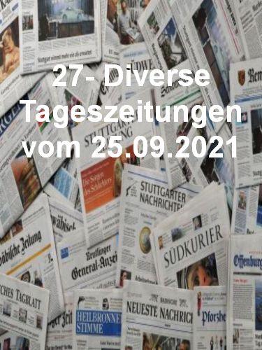 Cover: 27- Diverse Tageszeitungen vom 25  September 2021
