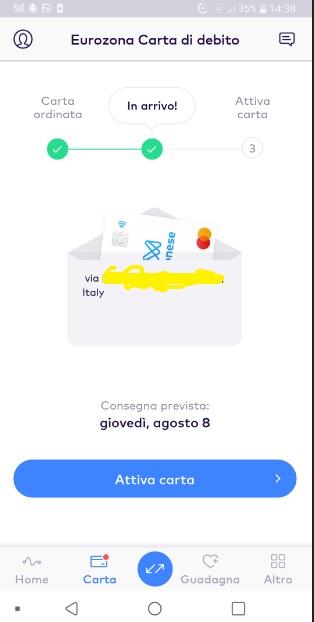 MONESE App gratuita regala fino a 25 Euro in denaro + altrettanti € SENZA LIMITI x inviti! Carta-Ordine-Monese-4