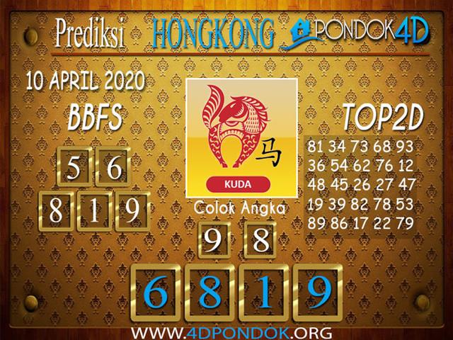 Prediksi Togel HONGKONG PONDOK4D 10 APRIL 2020