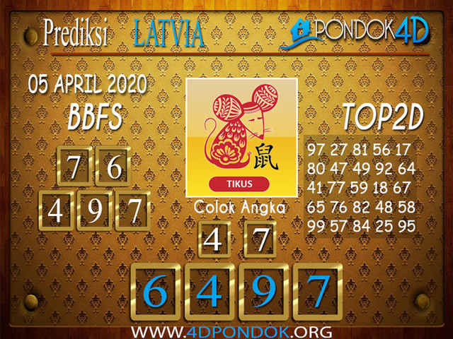 Prediksi Togel LATVIA POOLS PONDOK4D 05 APRIL 2020