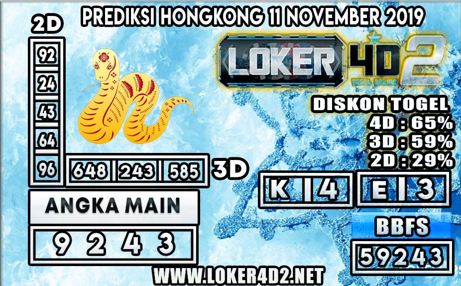PREDIKSI TOGEL HONGKONG POOLS LOKER4D2 11 NOVEMBER 2019
