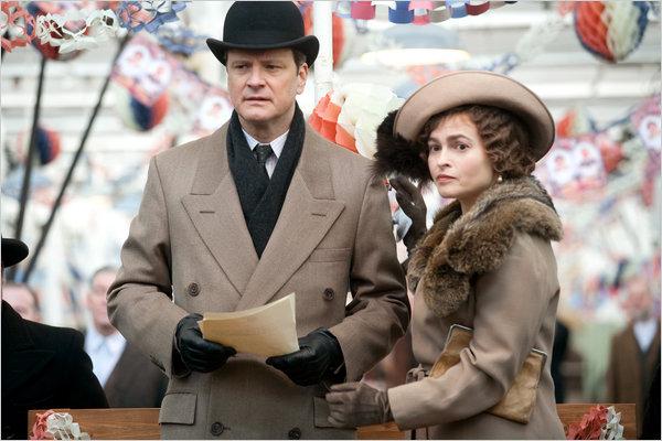 The Duke of York (Colin Firth) with the Duchess of York (Helena Bonham-Carter)