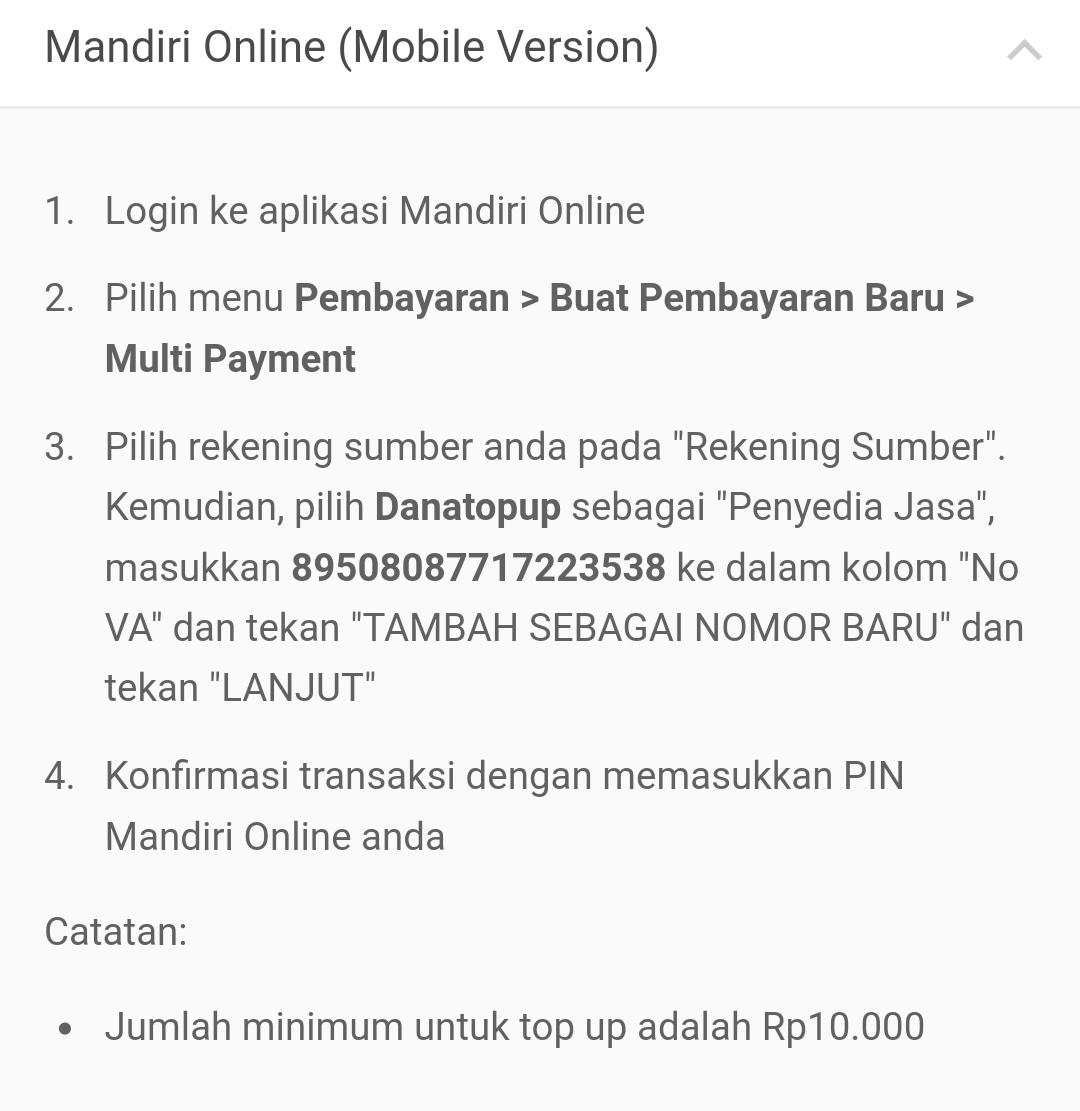 Cara Deposit Bank Mandiri