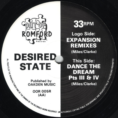 Desired State - Expansion / Dance The Dream (The Remixes) 1992