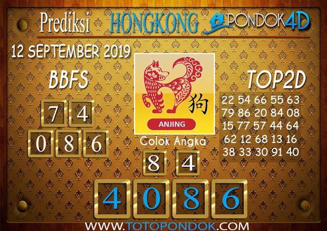 Prediksi Togel HONGKONG PONDOK4D 12 SEPTEMBER 2019