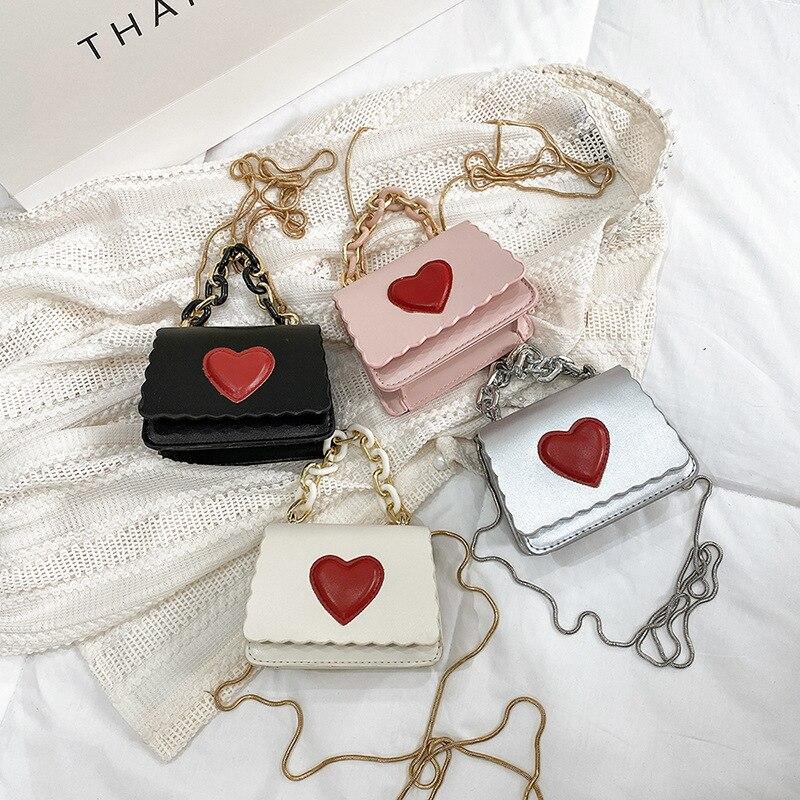 0-Meisje-Roze-Liefde-Kleine-Vierkante-Tas-Mini-Ketting-Buitenlandse-Stijl-Een-Schouder-Crossbody-Rod
