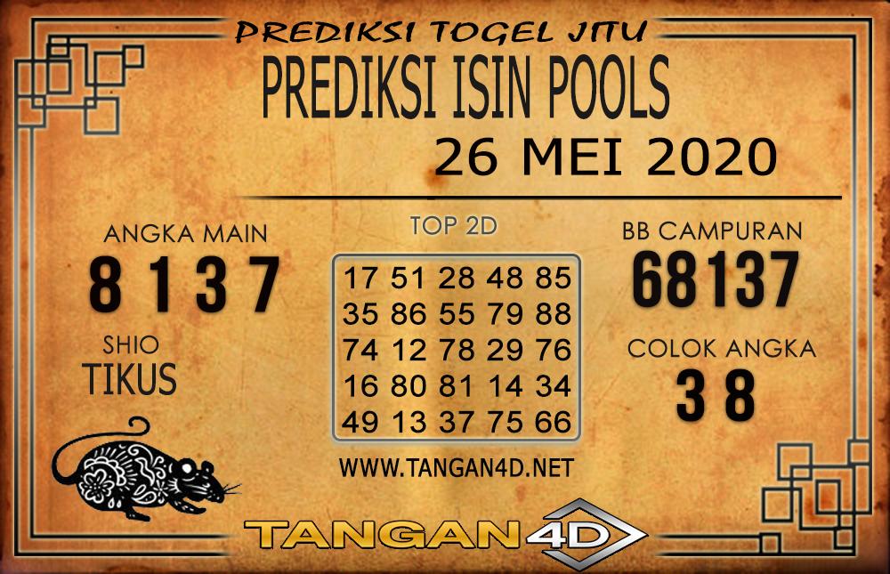 PREDIKSI TOGEL ISIN TANGAN4D 26 MEI 2020
