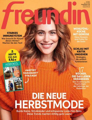 Cover: Freundin Frauenmagazin No 21 vom 22  September 2021