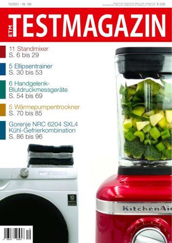 Cover: Etm-Test Verbrauchermagazin No 10 2021